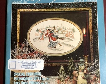 MAYniaSALE Stoney Creek Collection, Magazine, Vintage, 1990, Nov/Dec, Counted Cross Stitch, Patterns