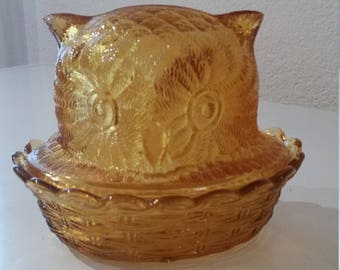 Amber Owl Nesting Bowl