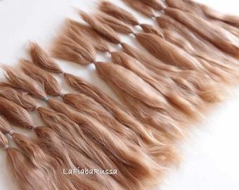 Doll hair suri alpaca honey blonde BJD Blythe long hair combed locks nice mohair hair pretty msd bjd reborn reroot alpaca hair suri combed