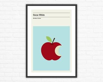 Snow White, Minimalist Fairytale Poster