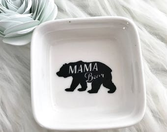 Mama Bear Ring Dish - Ring Dish - Ring Display - Ring Dish Holder - Ring Holder - Ring Dish for Women - Ring Organizer - Jewelry Holder
