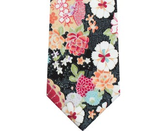 Japanese Style Cotton Floral Ties