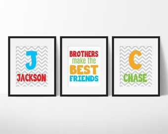 Brothers Make The Best Friends, Brothers Wall Art, Big Brother Little Brother