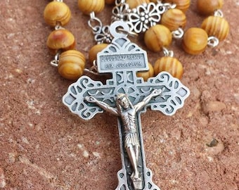 Pardon Crucifix Rosary Necklace
