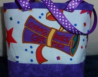 Diploma, High School, College, Graduation hats, Gift Bag, Graduation, Purple, White