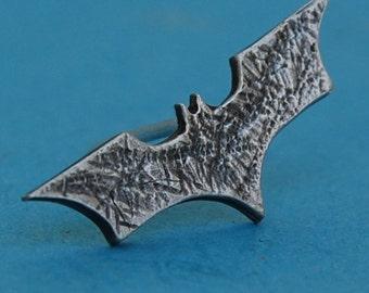 Sterling silver batman pin/tiepin