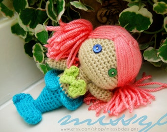 Free Crochet Amigurumi Mermaid Pattern : Pdf pattern mermaid doll felt pattern mermaid doll hand