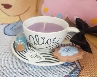 Alice in wonderland Alice teacup candle