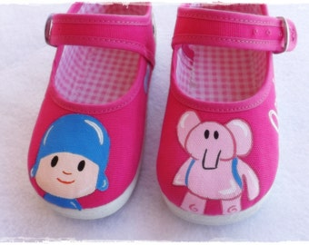 Scarpe pocoyo, pocoyo, pocoyo Pantofole, scarpe rosa pocoyo, scarpe ragazza, Mary Jane pocoyo