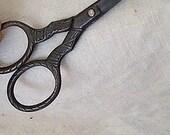 SALE - Victorian Era Embossed Steel Scissors