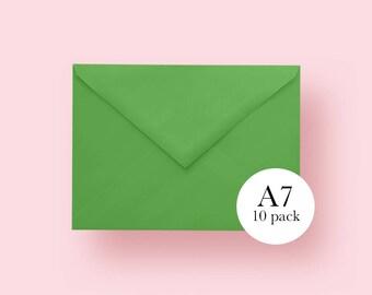 5x7 Light Green Envelopes | A7 Light Green Envelopes | Set of 10