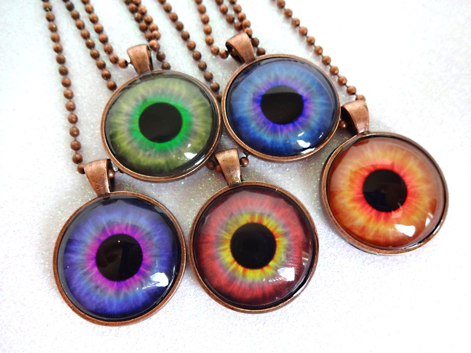 Eye necklace eyeball necklace eye jewelry third eye zoom mozeypictures Image collections