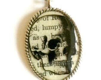 Skull Necklace Steampunk silver Handmade Gift
