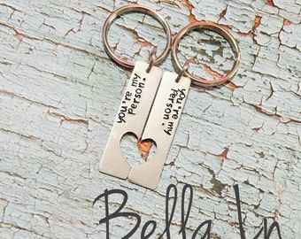 You're My Person Keychains- Set of 2