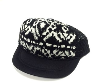 Black with Tribal Trucker Hat