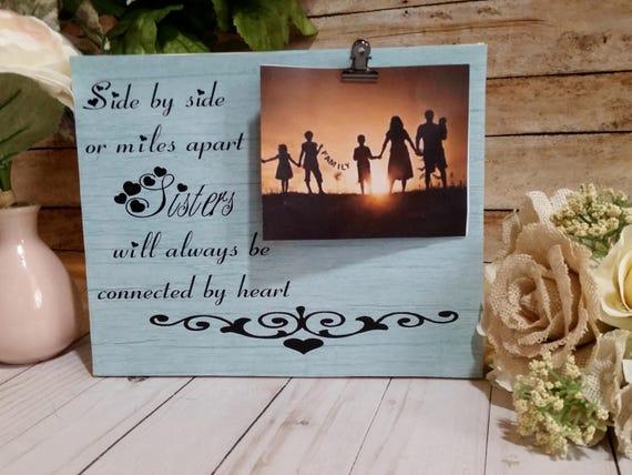 Rustic picture frame, sister gift, big sister gift, big sister ...