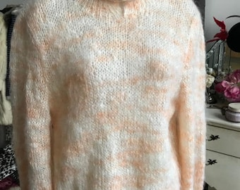 Vintage Hand-knitted Fluffy Mohair Jumper