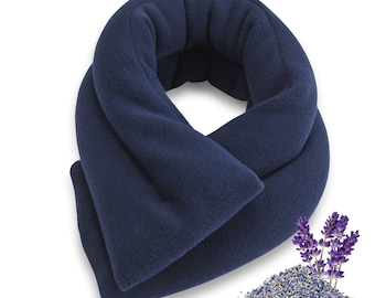 Lavender Blue Microwave Heat Neck Wrap, 26x5, Extra-Long & Wide, Heating Pad, Neck Shoulder Back Hot Cold