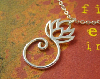 Lotus Charm Sterling Silver Wholesale , Silver Lotus Charms , 925 Sterling Silver Charms Wholesale