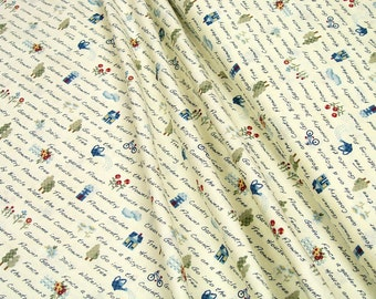 Lecien fabrics • American Country • 31351-10 Font • Cotton Fabric 0.54yd (0,5m) 002820