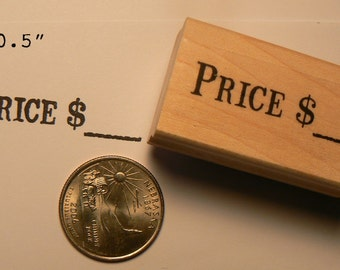 Price with dollar sign rubber stamp WM P55