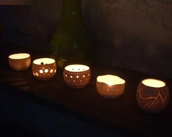 white porcelain, unique candle