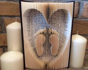 Heart and Feet Book Art