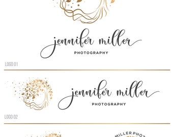 Tree logo, Photography logo and watermark, Nature logo, Small business logo, Custom Logo design, Premade logo Custom logo branding kit 093