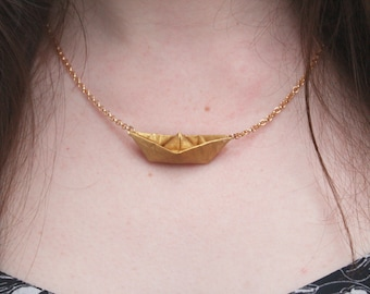 Gold chain Paper Boat Recycling