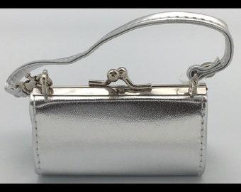 Mini Silver Lipgloss/Eyelash Glue Case