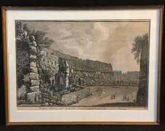 World Cup of Sales Giovanni Piranesi - Veduta dell' Anfiteatro Flavio detto il Colosseo Romano (Roman Colisseum) Antique Italian Etching Fra