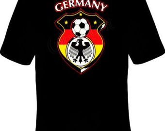 Germany Soccer Football T-Shirt Black S-5XL Adult & Youth Sizes
