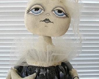 Lunessa-OOAK Primitive Folk Art Moon Star Doll by Brenda Ostrowski