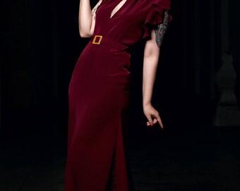 30s-year evening dress dress