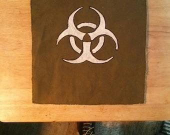 Hand made, hand painted Biohazard Butt flap