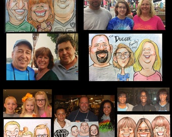 Triple Color Head and Shoulders Custom Personalized Caricature Cartoon by Peter Battaglioli