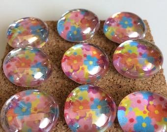 Decorative Glass Marble Pins - Summer Garden