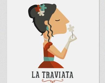 """Ilustración """" La Traviata """". Según la ópera de Verdi."""