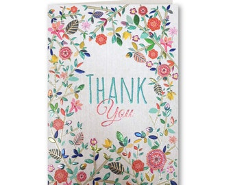 Thank You Card - Thank You  - Thanks - Greeting Card - Floral