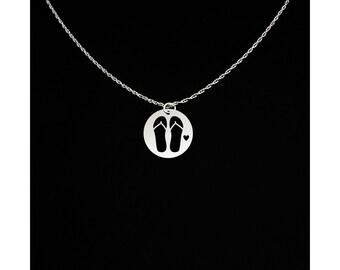 Flip Flops Necklace - Flip Flops Jewelry - Flip Flops Gift