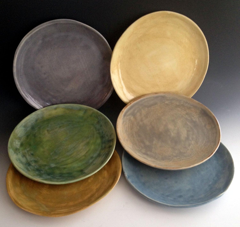 🔎zoom & Handmade dinnerware dinner plates Stoneware Dinner plates