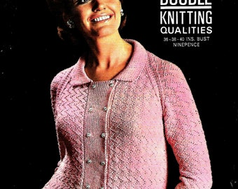 LISTER 1865 Lady's Jacket Vintage Knitting Pattern PDF Instant Download