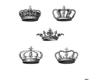 10 Tiny Vintage Crowns Wickedly Lovely Skin Art Temporary Tattoos