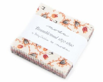 Bramblewood Fabric Floral Mini Quilting Quilt Square Moda Cotton Sewing Fabrics Farmhouse Gift for her