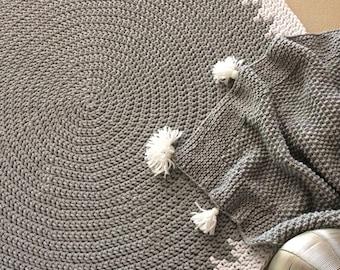 Crochet round rug, Handmade rug, Cotton rug, Kid rug, Kid room decor, Many sizes, Handmade carpet, Circle rug, cozy rug, carpet, floor