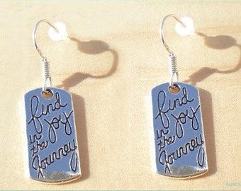 Find Joy In The Journey Earrings, Graduation Earrings, New Job Earrings, Jewelry Findings