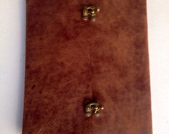 Hand-Stitched Leather Legal Pad Holder with Pockets
