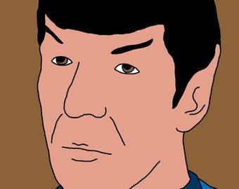 Spock Mini Art Print