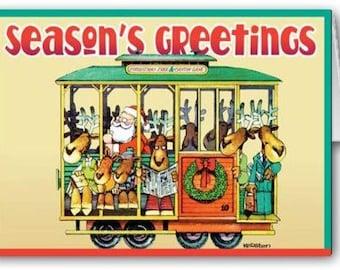 San Francisco Trolly Holiday Card - 18 Cards & Envelopes - KX60
