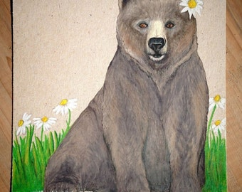 Grizzly Bear, original drawing